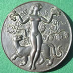 France Bacchante art medal by Guiraud