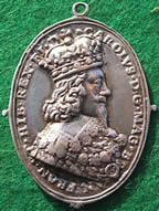 Royalist Civil War badge medal Charles I