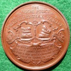 Joseph Chamberlain, Preferential Tariffs on Wheat Importation 1903, bronze medal by JA Restall