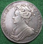 Queen Anne Coronation medal 1702 by Croker