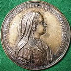 Italy, Philiberta of Savoy wife of Giuliani de Medici, large cast and chased bronze medal by Antonio Selvi
