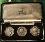 The Three Kings of 1936, cased medal set of George V, Edward VIII, George VI