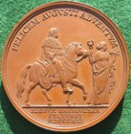 Arrival of George IV in Hanover 1821, bronze medal by Carl Voigt