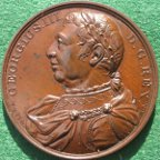 George IV, death 1820, bronze medal