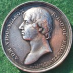 Admiral Horatio Nelson & the Battle of Trafalgar 1805, silver medal by T Webb/JP Droz, 41mm, for Mudie�s series