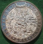 Spanish Armada, 400th Anniversary 1988, silver medal