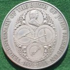 John Harrison, Tercentenary 1993, silver medal issued by The Royal Min