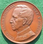 Germany, General Fieldmarshall Count Helmuth  von Moltke, 90th birthday 1890, bronze medal