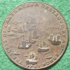 Admiral Vernon & the Capture of Porto Bello 1739, pinchbeck meda
