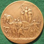 Poincar� and Cl�menceau  Tour of liberated Alsace-Lorraine December 1918, bronze medal
