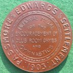 London, Passmore Edwards Settlement medal 1903, in memory of colleagues who fell in the Boer War