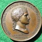France, Napoleon, the Battle of Jena 1806, bronze medal by L Manfredini