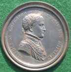 Napoleon Bonaparte, lead-filled clich� medal by Andrieu, with Oxford University association