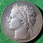 Paris World�s Fair 1878, large silver medal by J-C Chaplain