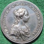 Queen Charlotte (George III�s wife), Coronation 1761 silver medal