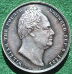 William IV and Queen Adelaide, Coronation 1831 silver medal