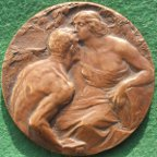 Italy, Milan International Exposition 1906, bronze medal by C Giannino