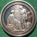 City of London School founded 1834, silver prize medal by B Wyon