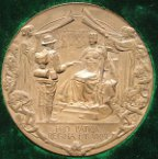 South Africa Boer War, City of London Volunteers Return to London 1900, bronze meda
