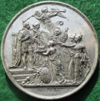 William IV, Coronation 1831, white metal medal