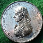 Battle of Trafalgar 1805, Matthew Boulton�s medal in white metal, by Conrad Kuchler