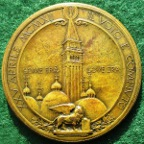 Italy, Venice, New Campanile erected in St Mark�s Square 1912, bronze medal