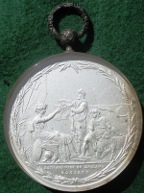Francis Russell, Duke of Bedford, President of the Bath & West of England Agricultural Society 1802, glazed and frosted silver prize medal by John Milton