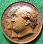 Sir Moses Montefiore, Jewish campaigner and philanthropist, bronze medal 1864 by Charles Wiener