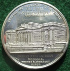 Liverpool, William Brown benefactor & Library and Museum opened 1860, white metal medal