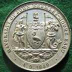 Liverpool, Fancy Fair for Infirmary Hospitals 1849, white metal medal