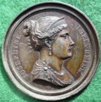 Empress Josephine, bronzed lead-filled clich� medal by Andrieu