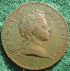Prince James Stuart, The Old Pretender, bronze medalet  1697