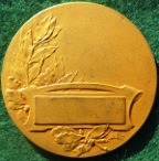 Aviation, bronze-gilt art deco medal circa 1930 by Edouard Fraisse