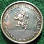 Lyon Animal Protection Society 1854, silver medal