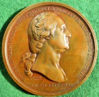 USA, Washington before Boston 1776, bronze medal by Benjamin Duvivier  after Houblon, 69mm, original striking, extremely rare