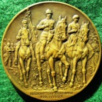 Belgium, Entry of the King into Brussels 22 November 1918, bronze medal