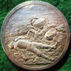 Belgium, General Leman and the Defence of Li�ge 1914, silvered bronze medal by Godefroid Devreese