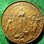 France, Battle of the Yser 1914, bronze medal by Henri Allouard