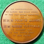 London, New Royal Exchange Foundation Stone laid by Queen Victoria 1842, bronze medal by W Wyon