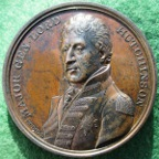 Major-General Lord Hutchinson, Egypt Delivered 1801, bronze medal by T Webb & A Dupre