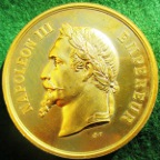 France, Napoleon III, Paris Exposition Universelle 1867, gilt-bronze medal
