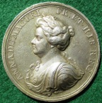 Queen Anne�s Bounty 1704, silver medal by John Croker
