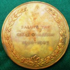 The Churchill War Coalition Cabinet Presentation Medal 1946, large bronze medal