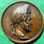 France, Louis Philippe I, Erection of the July Column 1840, large bronze medal