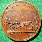 France, the Execution of Marie Antoinette 1793, bronze medal