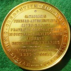 Vatican, Pius IX, Easter medal in defence of Papal territory 1860, bronze-gilt, by B Zaccagnini
