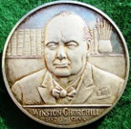 Winston Churchill, Death 1965, silver medal