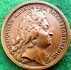 France, Louis XV, the Duke of Anjou beomes King Philip V of Spain 1700, bronze medal