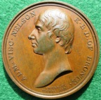 Admiral Lord Nelson, Memorial Medal 1820 by Webb & Droz for James Mudie, bronze