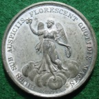 George III, Victories of the Year 1805, white metal medal by J Westwood,